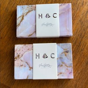 Maskcara Beauty 2 Empty HAC Compacts Marble New